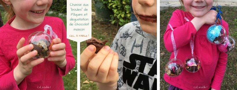 """Chasse aux """"boules"""" de Pâques et dégustation de chocolat maison"""