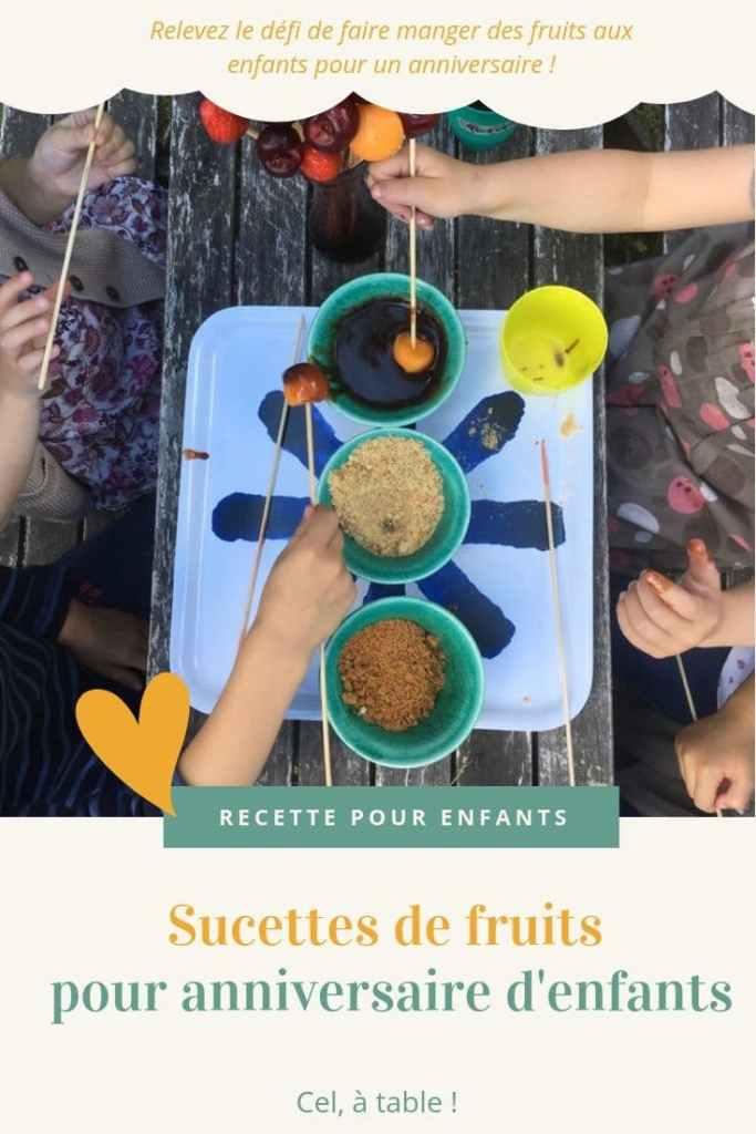 affiche de l'article sucettes de fruits pour anniversaire d'enfants