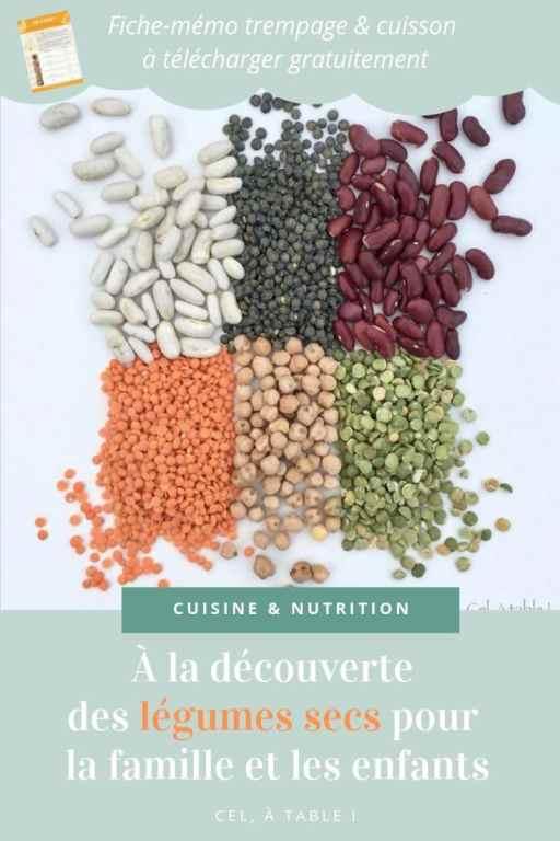 à la découverte des légumes secs pour les enfants et la famille