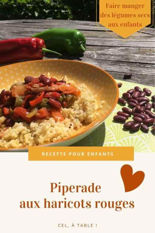 Faire manger des légumes secs aux enfants : piperade aux haricots rouges