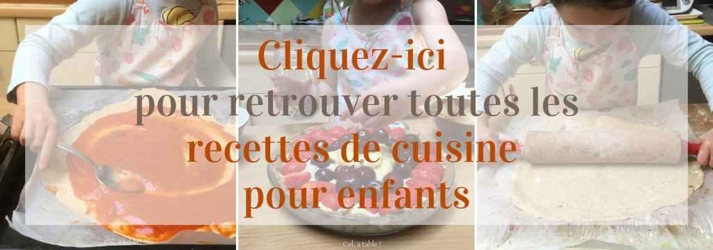 Répertoire des recettes de cuisine pour enfants