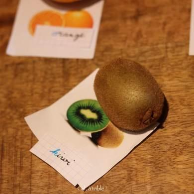 deviner le nom écrit du fruit