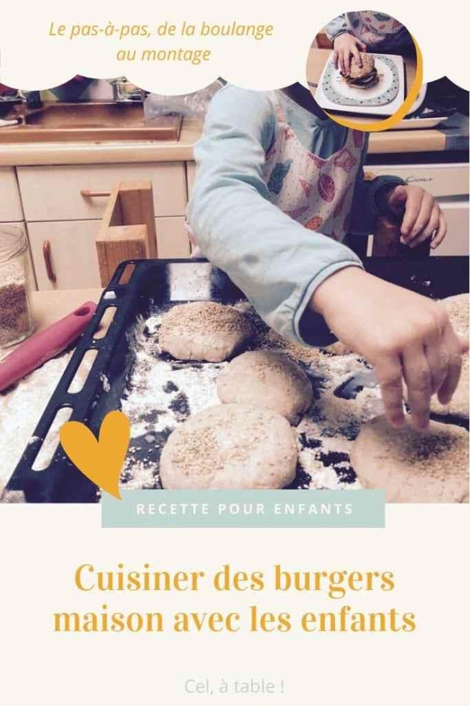 Cuisiner des burgers maison avec les enfants