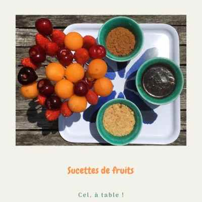 sucettes de fruits
