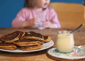Goûter de pancakes et beurre de pommes 😋