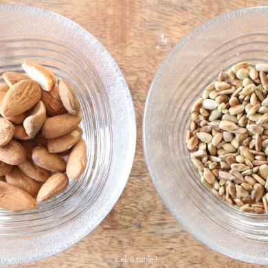 graines de tournesol ou amandes