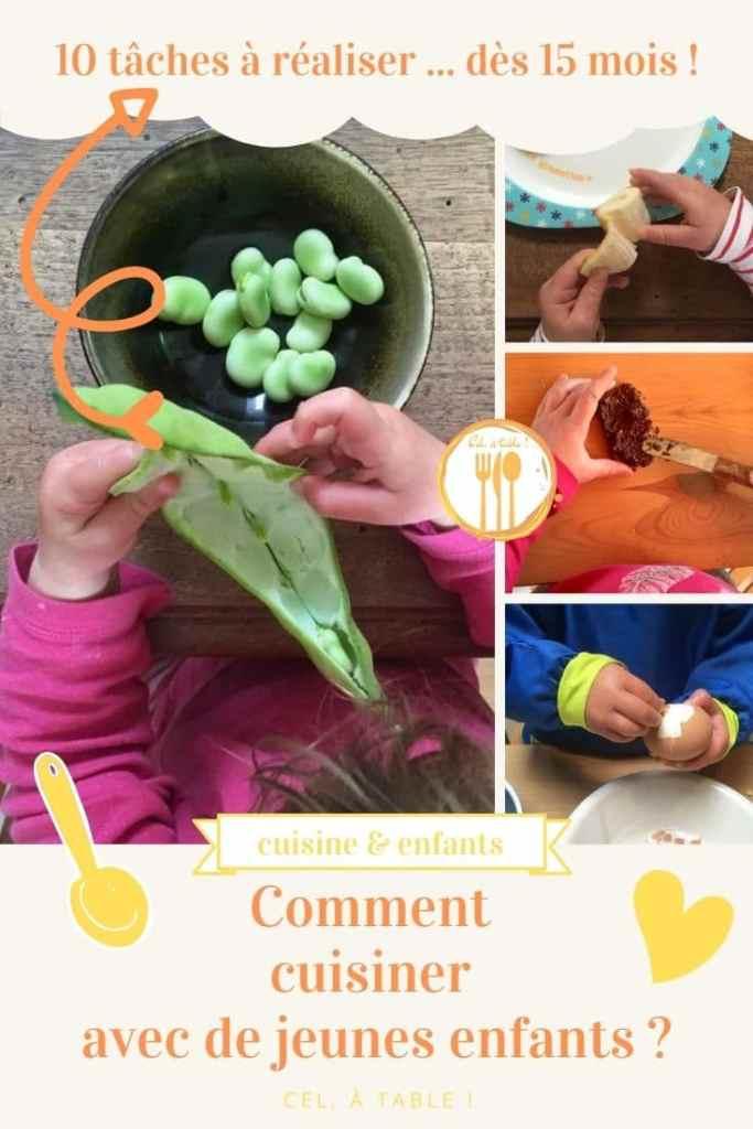 Comment cuisiner avec de jeunes enfants ? 10 activités à réaliser dès 15 mois