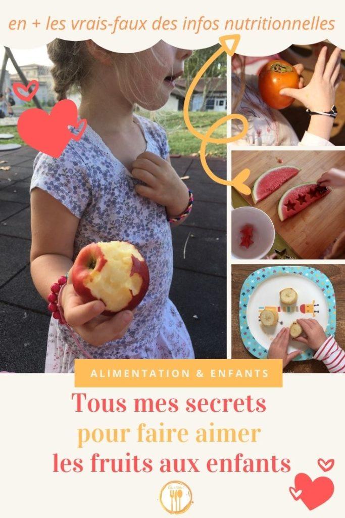 Tous mes secrets pour faire aimer les fruits aux enfants