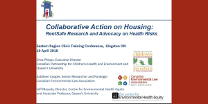 Collaborative Action on Housing: RentSafe Research and Advocacy on Health Risks