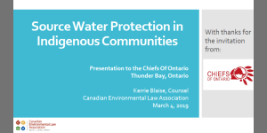 Presentation to Chiefs of Ontario – Source Water Protection Case Study