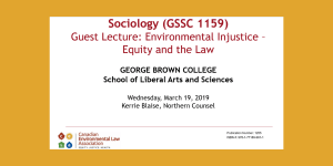 Environmental Injustice: Equity and the Law