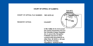 Application of Intervenors – Alberta Court of Appeal Impact Assessment Act reference
