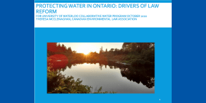 Protecting Water in Ontario