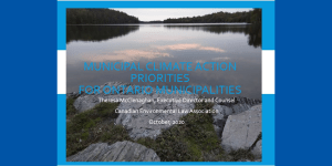 Municipal Climate Action – Priorities for Ontario Municipalities