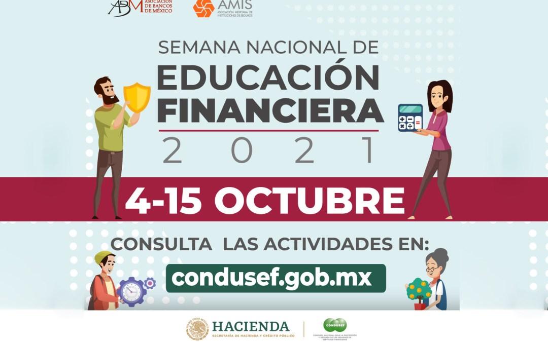 EL TECNM EN CELAYA PARTICIPA EN LA SEMANA NACIONAL DE EDUCACIÓN FINANCIERA 2021.