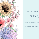 How To Create A Waterbrush And Use It On Floral Drawings Materials 1 By Qsan Art Clip Studio Tips
