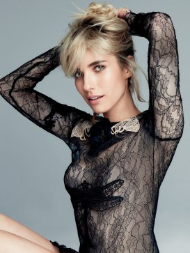 Emma Roberts see through shirt for allure
