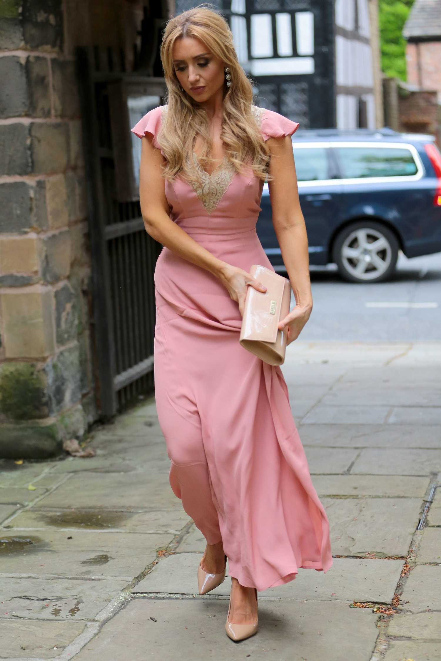 Catherine Tyldesley Arrives At The Poppy Rush Wedding