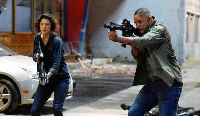 Mary Elizabeth Winstead and Will Smith in Gemini Man from Paramount Pictures, Skydance and Jerry Bruckheimer Films.