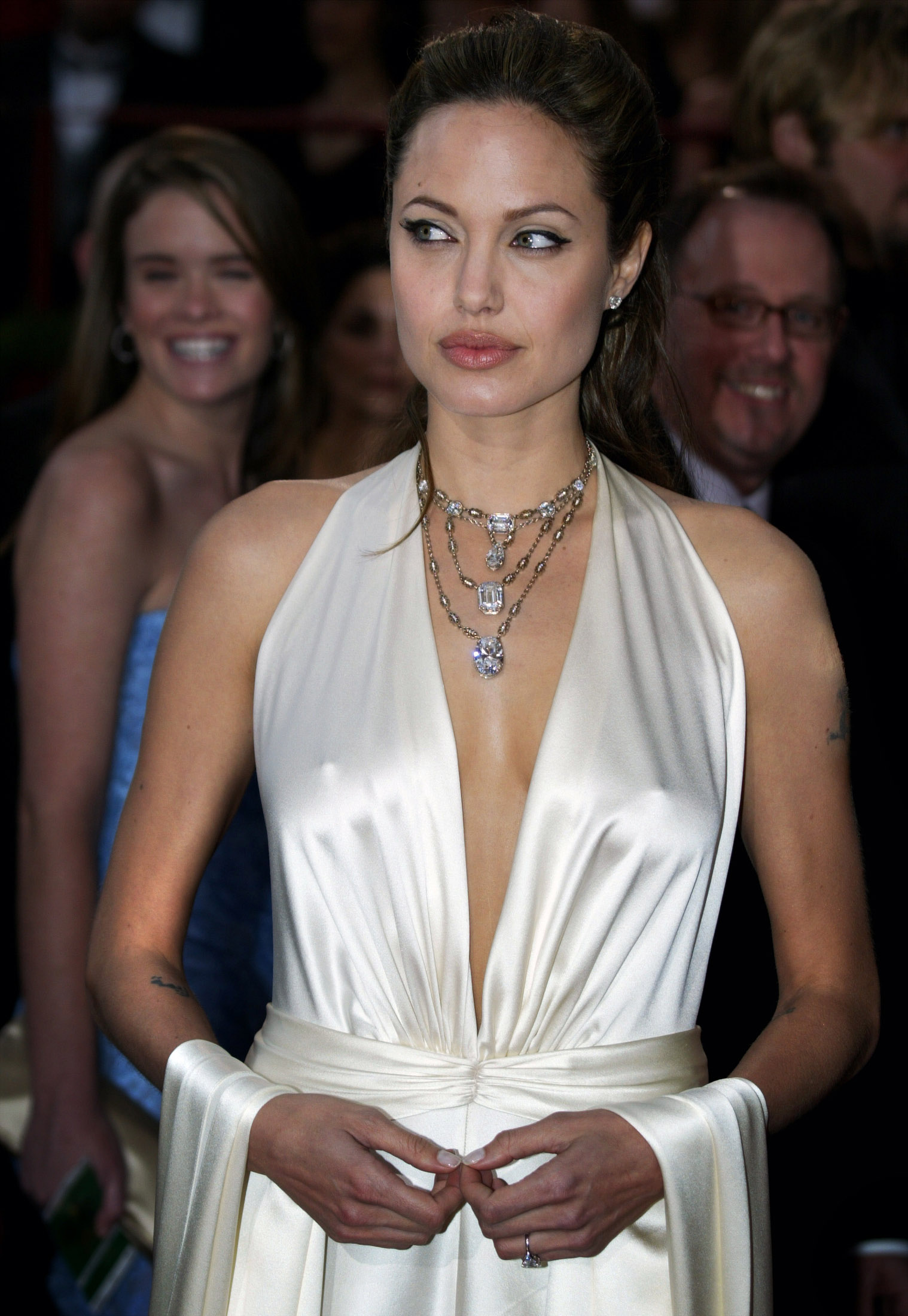 Angelina Jolie White Sexy Dress | Celebrity Headlights