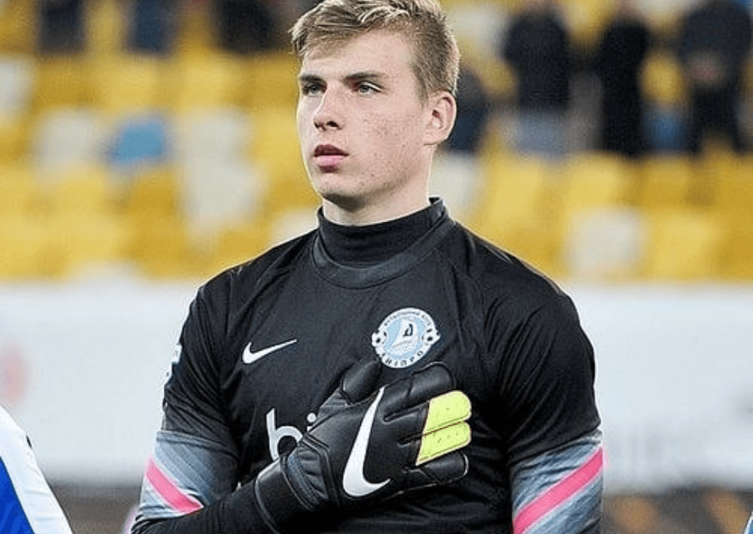 Andriy Lunin With His Team At The Beginning Of A Match