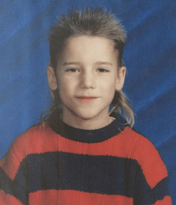 Dustin Milligan during his young age