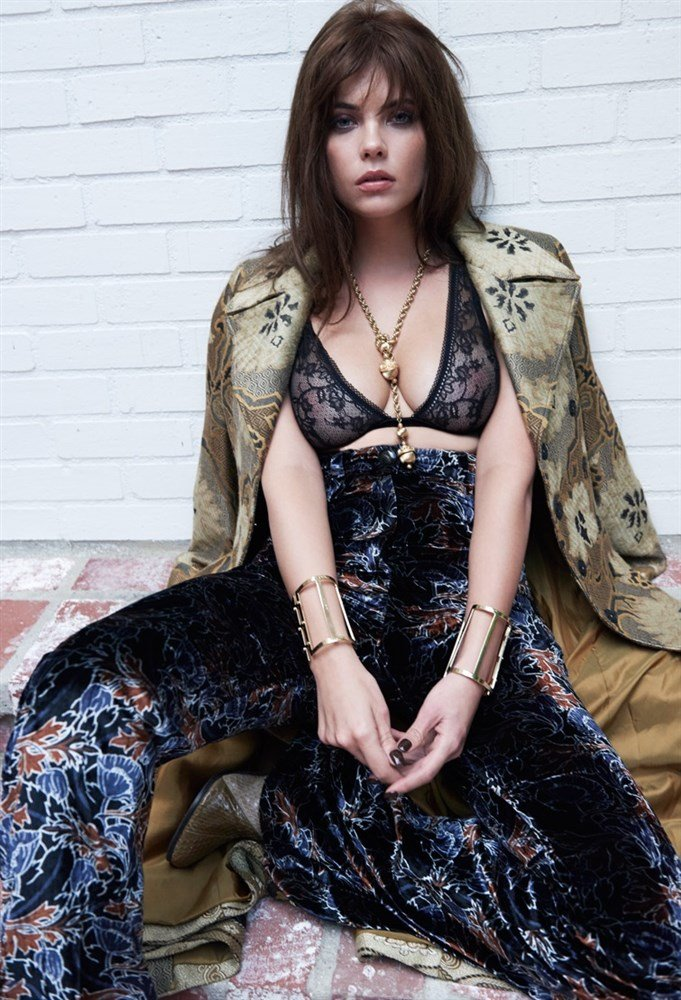 Ashley Benson Shows Her Nipples As A Brunette