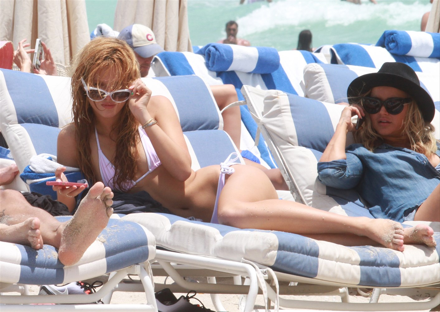 Bella Thorne In A Tiny Thong Bikini On Miami Beach