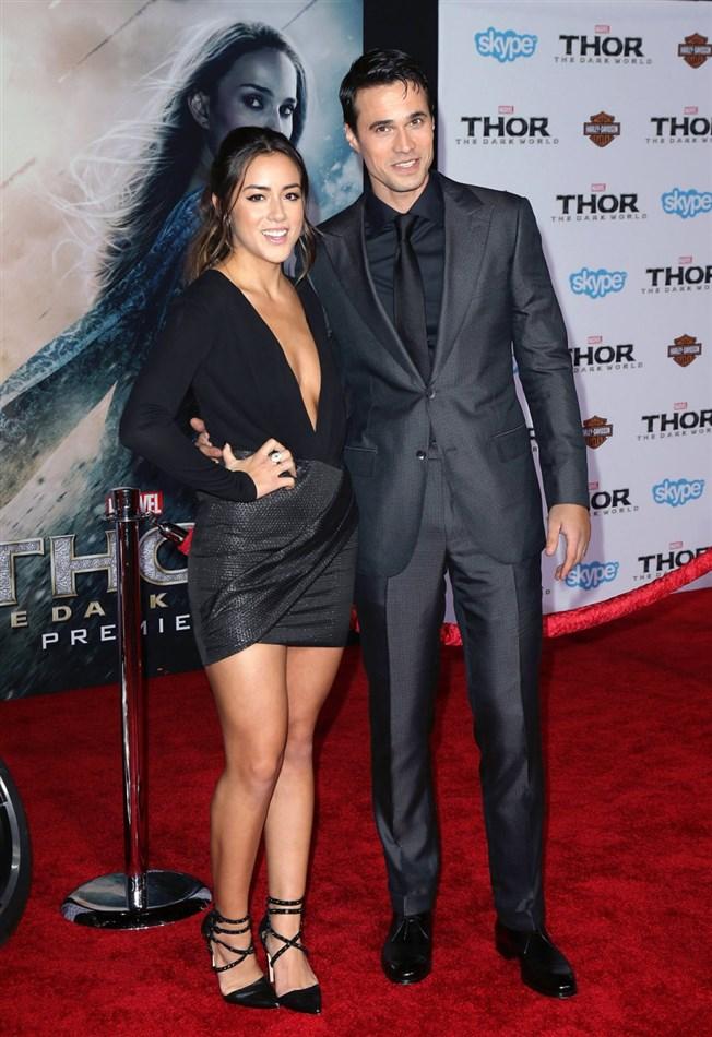 Chloe Bennet Deep Cleavage At 'Thor: The Dark World' Premiere