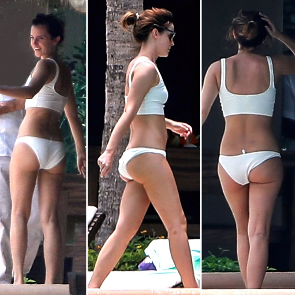 Emma Watson Booty Cheeks In A Thong Bikini