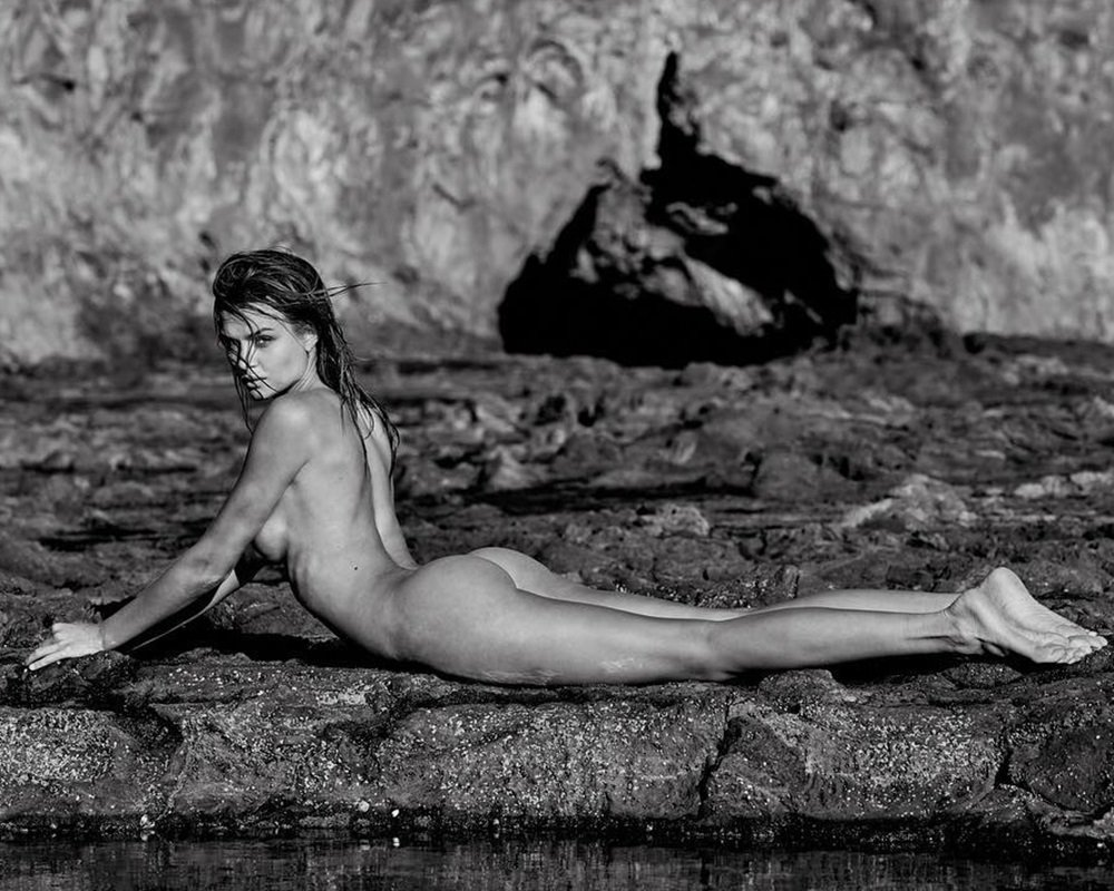 Josephine Skriver Nude In Nature