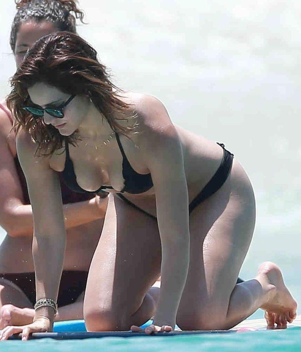 Katharine McPhee Thong Bikini Candids