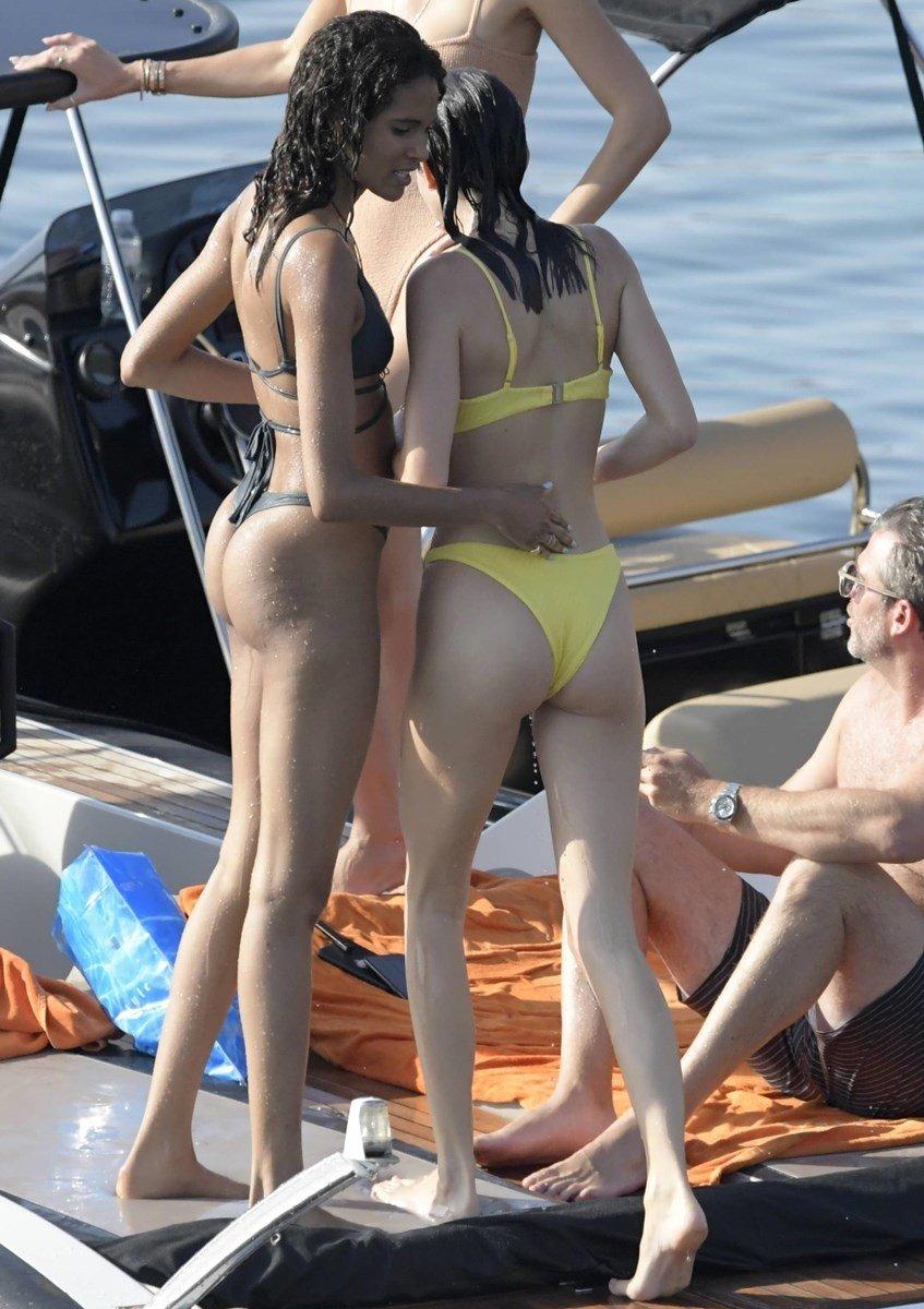 Kendall Jenner Scrawny Ass Thong Bikini Candids