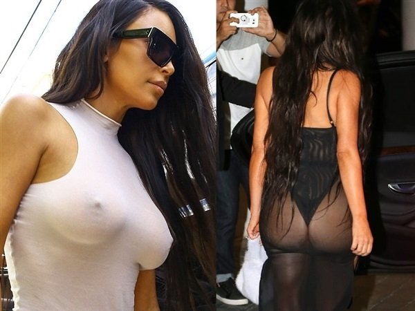 Kim Kardashian With Her Tits And Ass Hanging Out In Miami