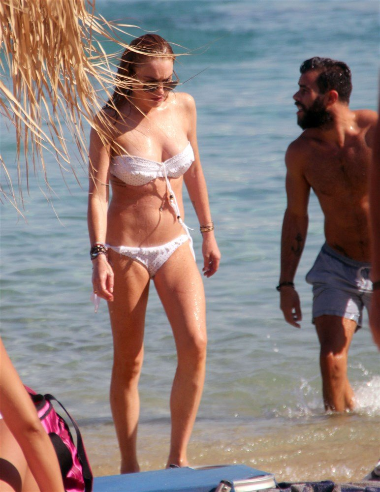 More Lindsay Lohan Bikini Pics From Greece