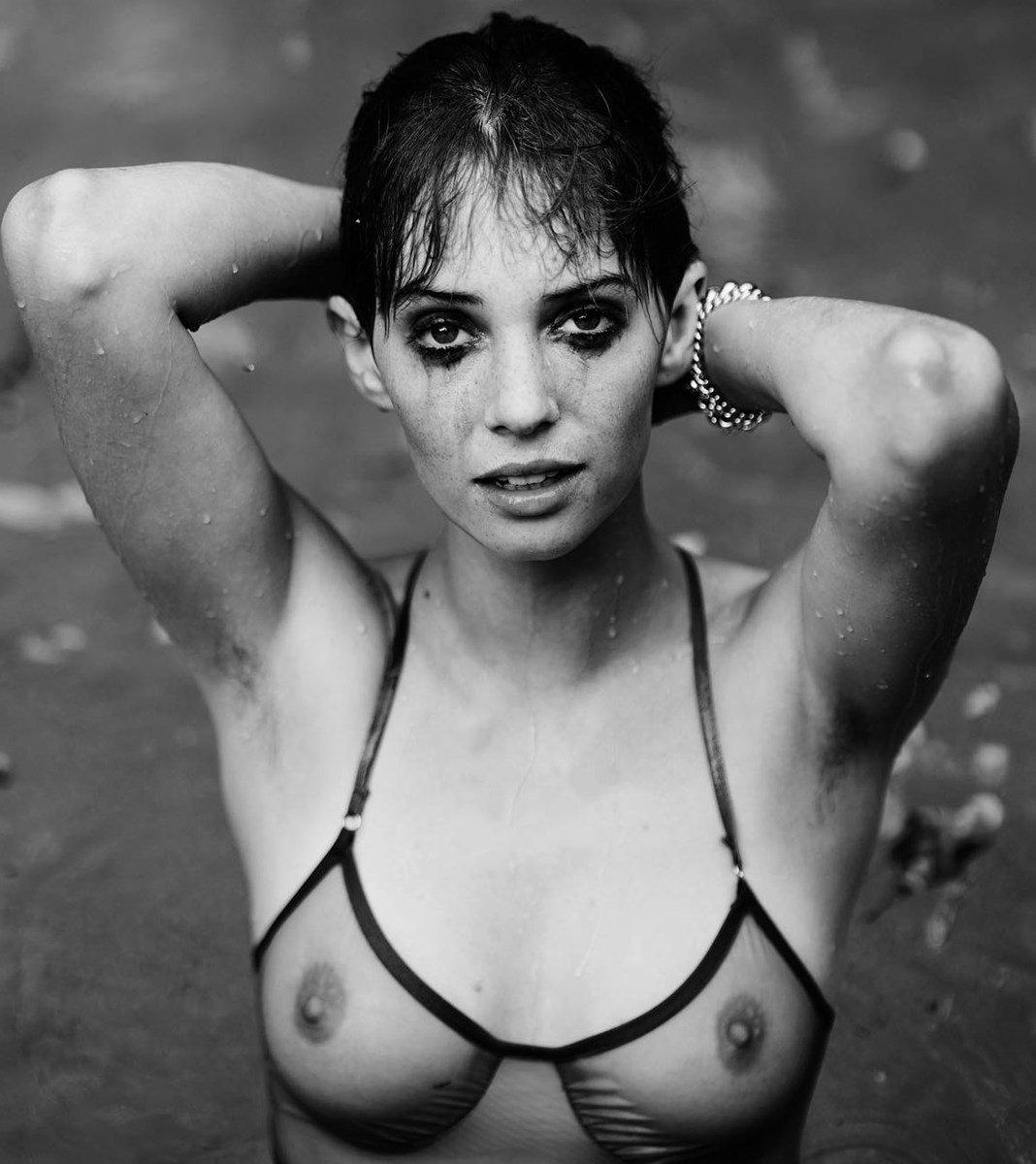 Maya Hawke's Nude Titties In A See Through Bra