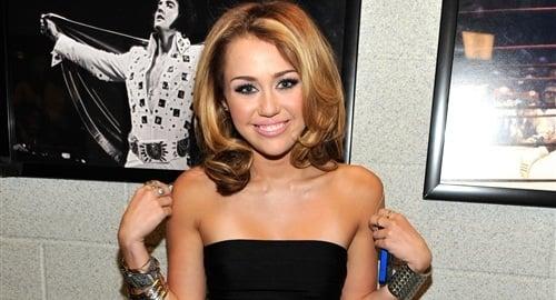 Miley Cyrus Fat Face In Little Black Dress
