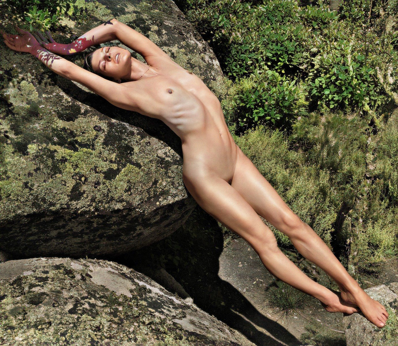 Milla Jovovich Full Frontal Nude Photos Colorized