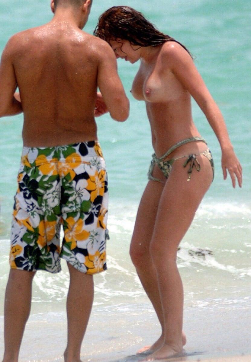 Natasha Hamilton Topless On A Nude Beach