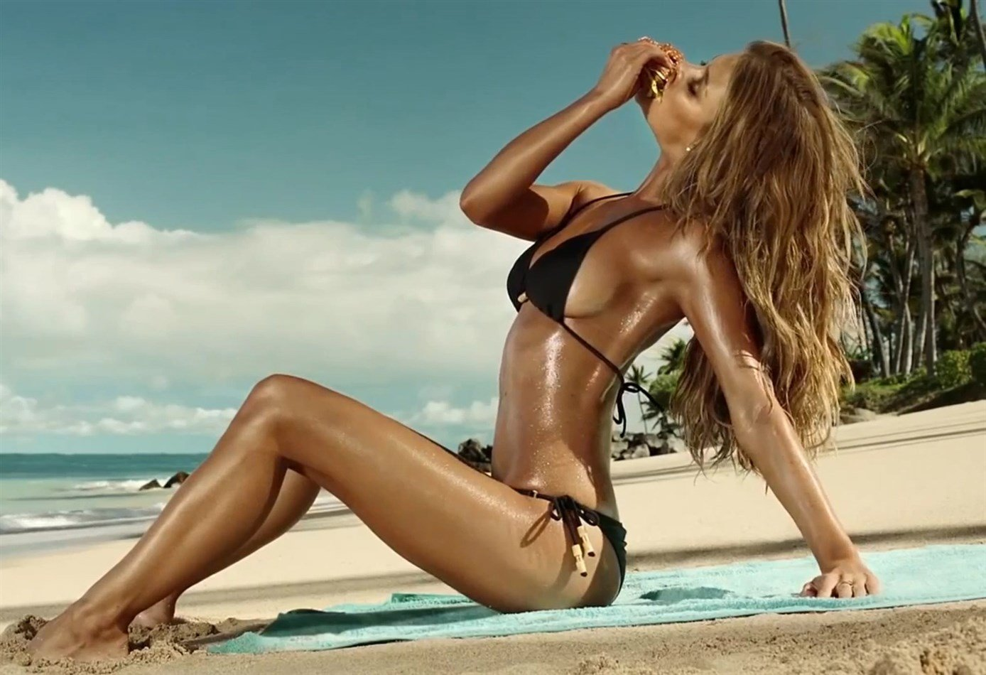 Nina Agdal Spreads Her Legs To Sell A Fish Sandwich