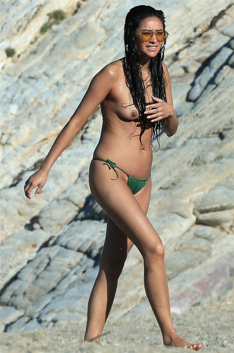 Shay Mitchell Topless On A Nude Beach