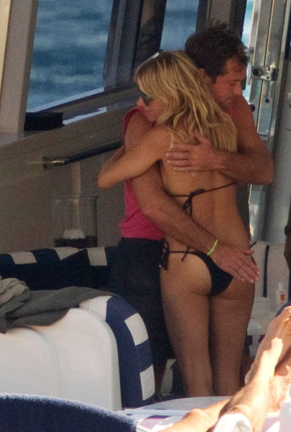 Jude Law Sniffs Sienna Miller's Crotch
