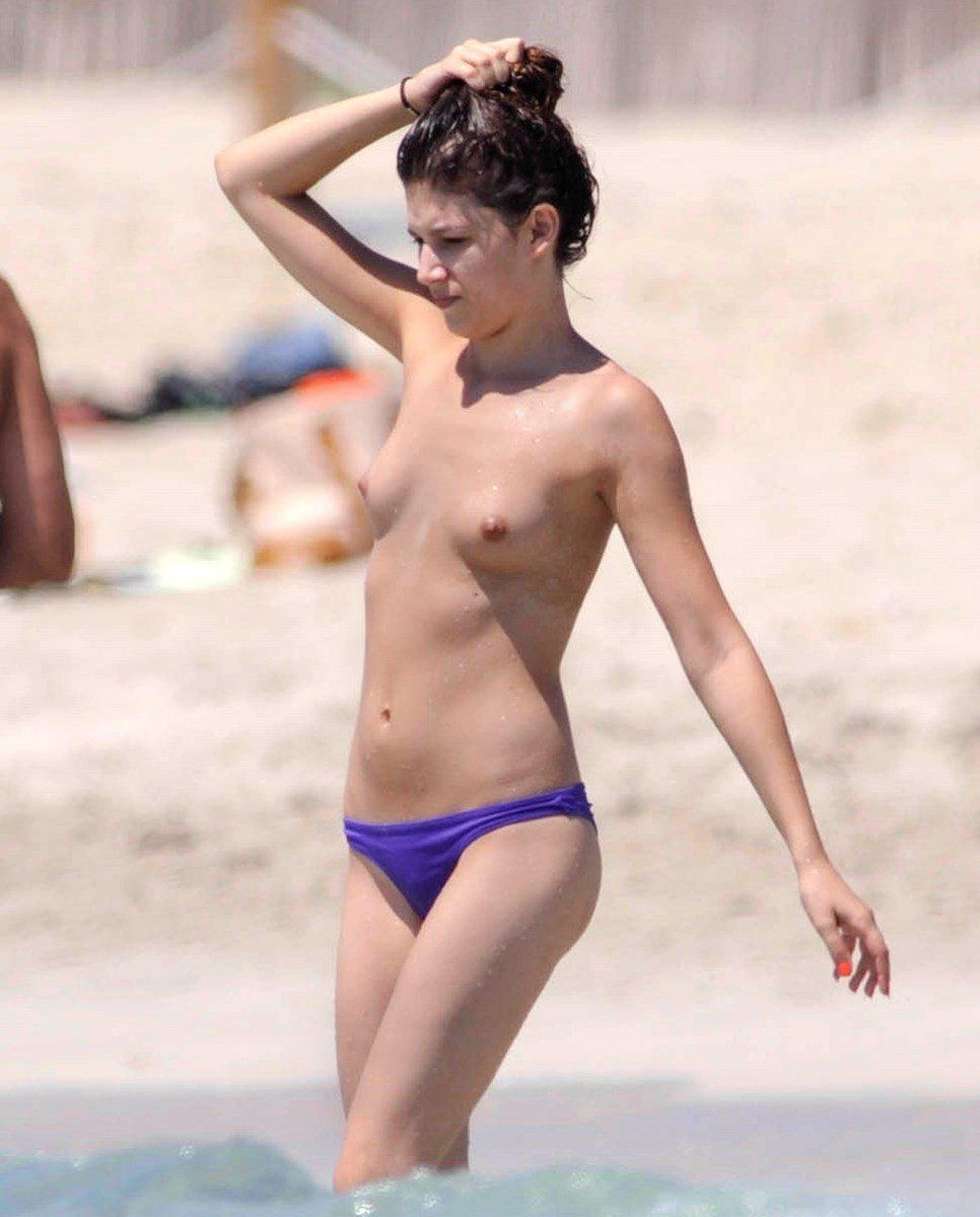 Ursula Corbero Topless Candids On A Nude Beach