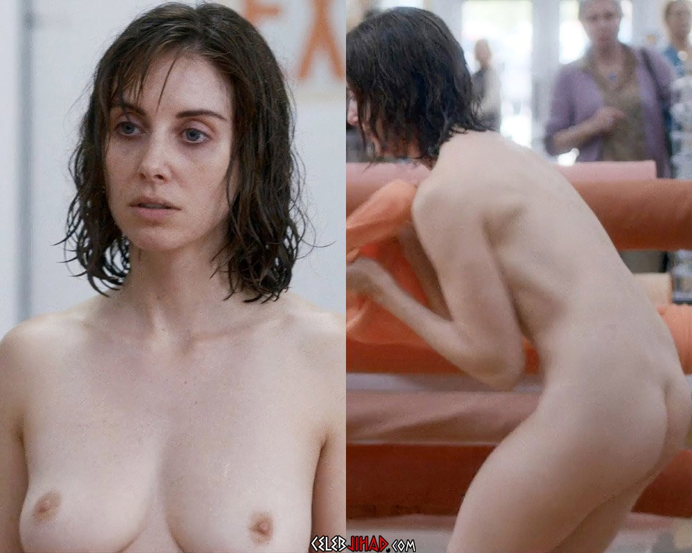 "Alison Brie Full Frontal Nude Scenes From ""Horse Girl"" Enhanced"