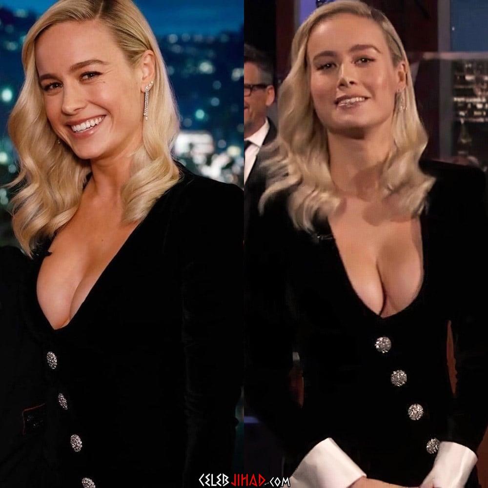 "Brie Larson's Tits Guest Host ""Jimmy Kimmel Live!"""