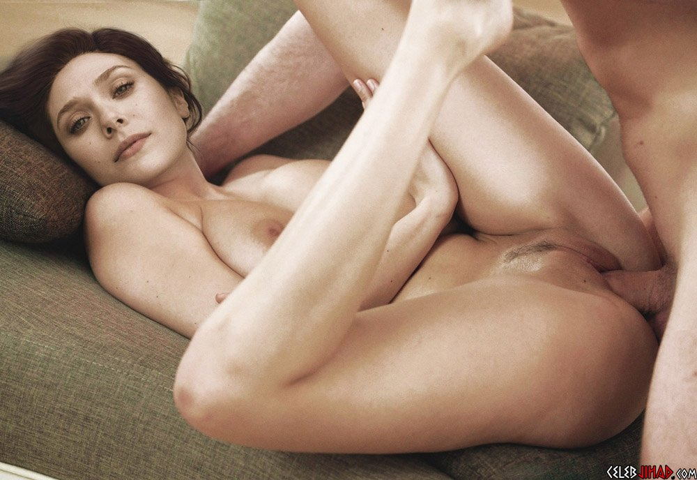 Elizabeth Olsen Nude Behind-The-Scenes of a Photo Shoot