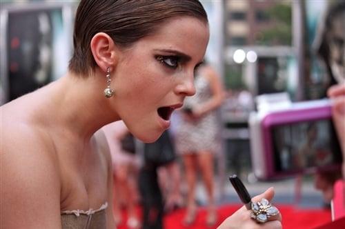 Emma Watson's Slutty Autograph Face