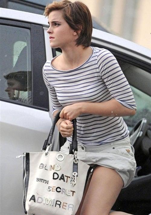 Emma Watson Cotton Panties Upskirt