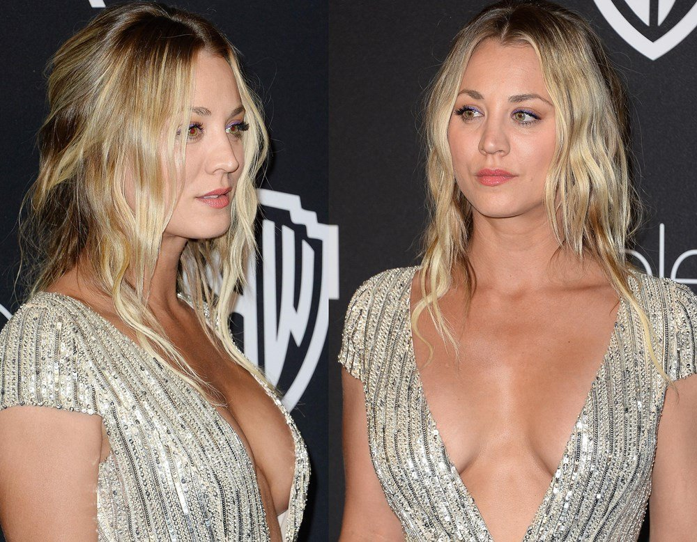 Kaley Cuoco Stripped Down To Her Thong On Video