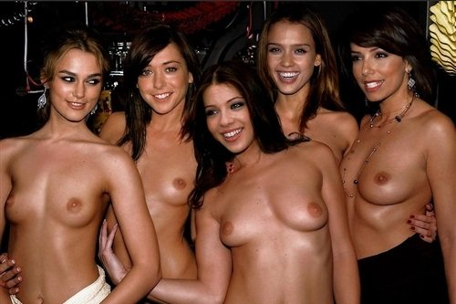 Keira, Alyson, Michelle, Jessica, & Eva At Topless Sex Party